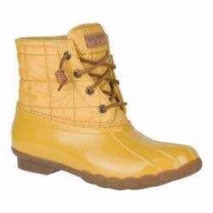 Sperry's Saltwater Duck Boot Quilted, Yellow, 8